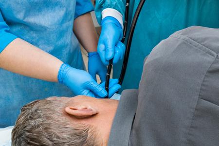 examination in the endoscopy room